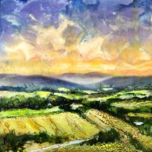 encaustic painting mountains