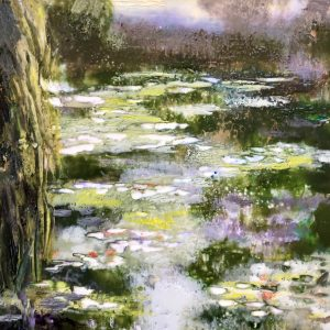 Monet pond painting