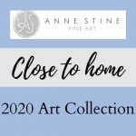 """title page """"Close to Home"""" art colleciton"""